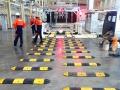 吉利汽车检测中心减速带安装--标志牌|上海欣路交通设施|挡车器