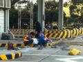 青浦出口加工区交通设施道路划线 挡车器 减速带