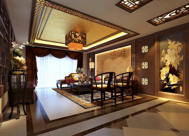 华侨城纯水岸200平新中式风格装修案例
