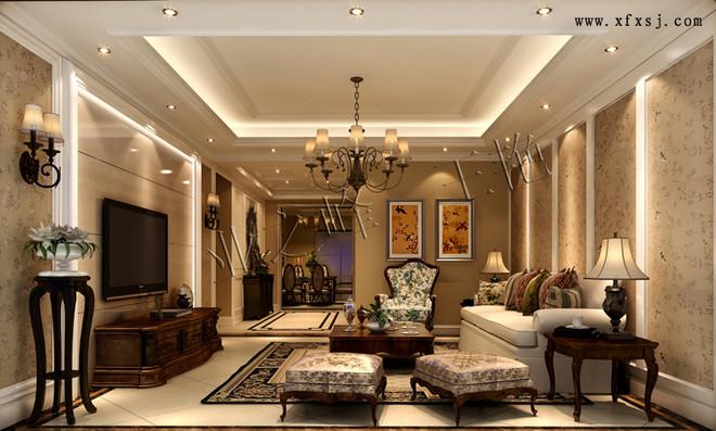 休闲美式风格客厅装修设计效果图业之峰装饰效果图