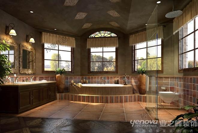 成都业之峰雅居乐550平方别墅浴室设计装修效果图