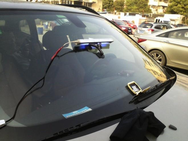 武汉汽车玻璃修复修补-宝马x6前挡风玻璃修复修补实例