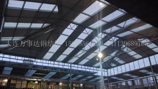 大连钢结构彩板 大连大跨度无柱屋面系统