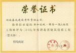 新城国际楚天杯荣誉证书