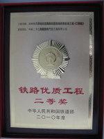 2010年滨洲线自动闭塞改造获铁路优质工程奖