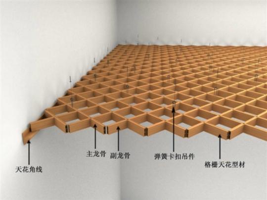 生态木格栅天花安装技术支持