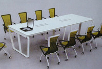 现代钢架会议桌HY-008