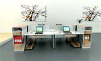 钢架组合办公桌XPF-005