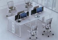 钢架组合办公桌XPF-006
