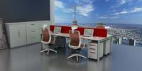 上海荣浜办公家具RBAM系列-IF红色办公桌