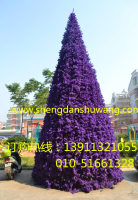 紫色大型框架圣诞树厂家直销
