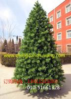 3米松针pvc混合带灯圣诞树厂家直销