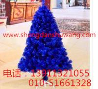 宝石蓝圣诞树 深蓝圣诞树厂家直销 电话13911321055