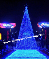 LED蓝光大型圣诞树