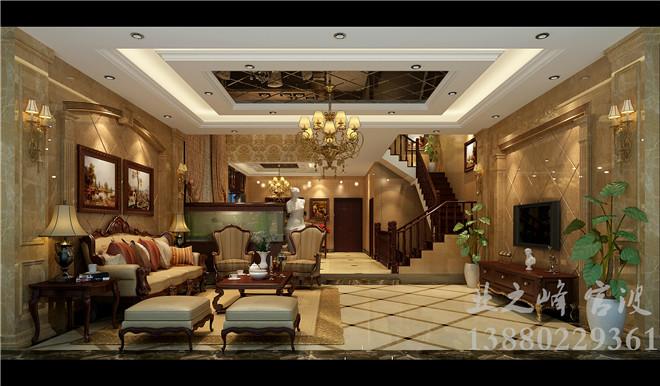 欧式风格 客厅装修效果图