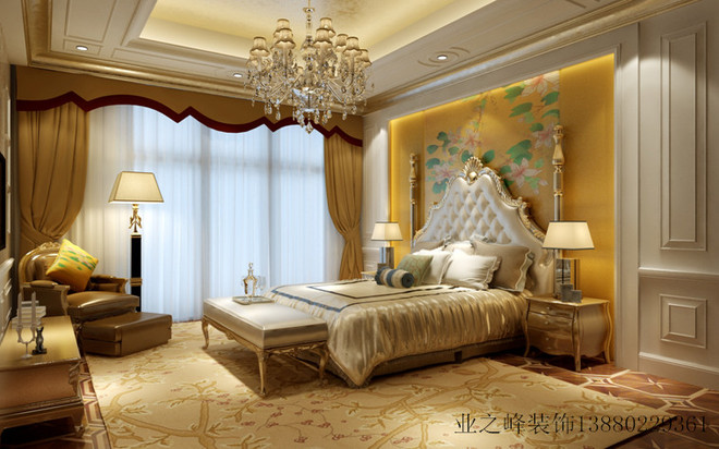 法式风格 成都业之峰卧室效果图