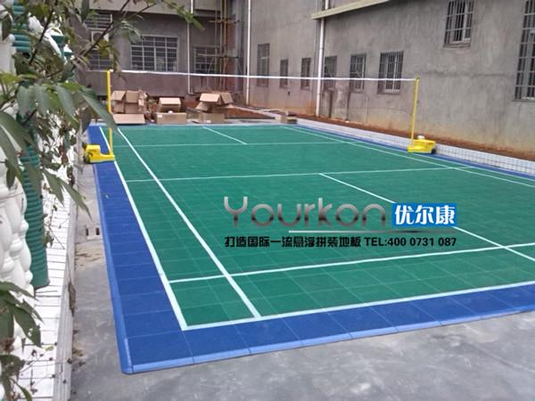 常德桃源县陬市镇悬浮拼装地板羽毛球场效果图