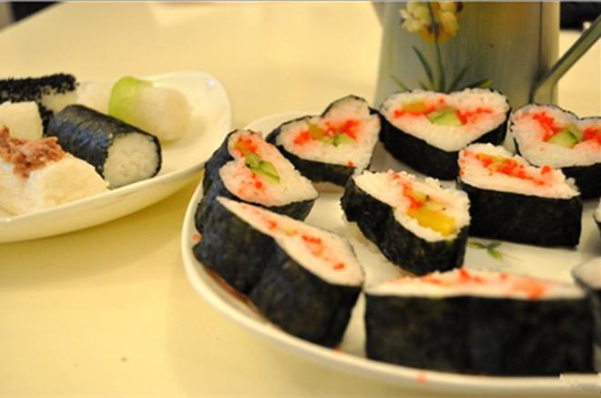 心形寿司的做法图解