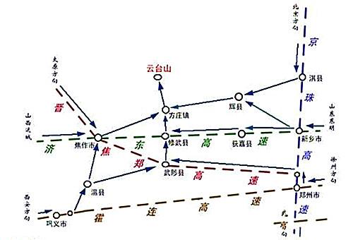 新乡 云台山地图