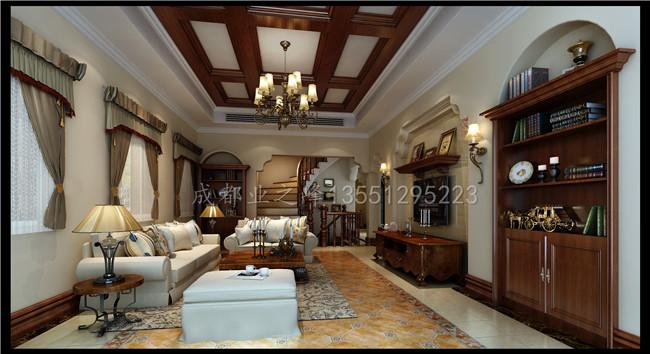 成都装修别墅装修美式风格效果图