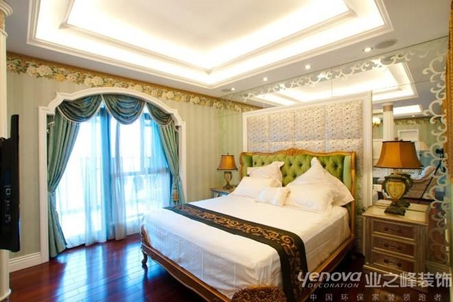 翡翠城美式风格装修卧室效果图