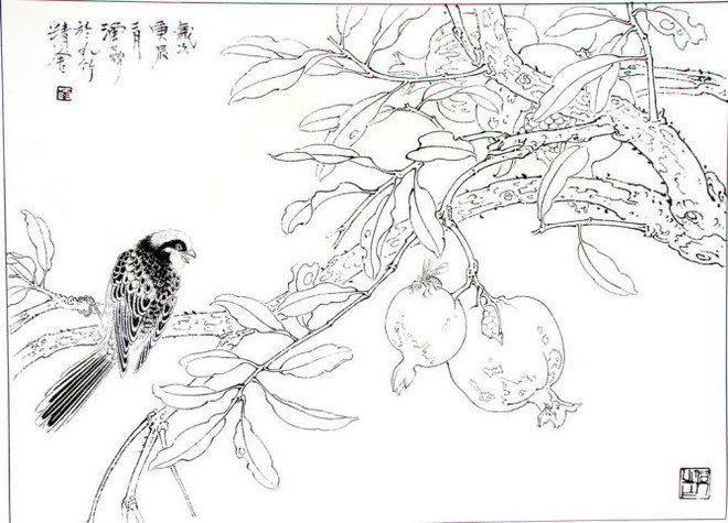 昆虫手绘造型图