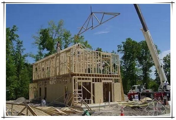 轻型木结构屋架,吊装搭建