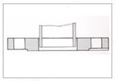 板式平焊法蘭結構示意圖