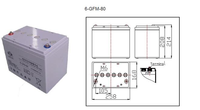 双登蓄电池6-GFM-80