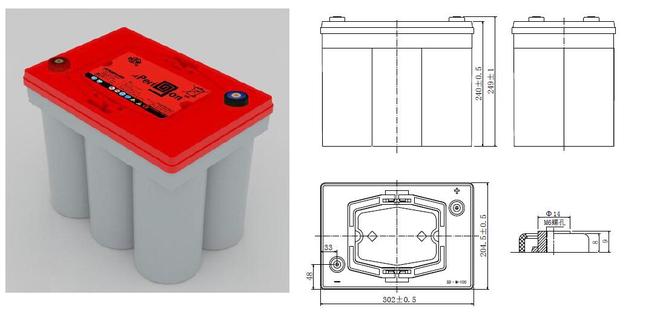 双登6-SPB-100蓄电池