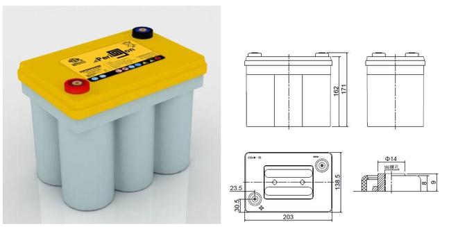 双登卷绕纯铅电池(25AH-100AH)