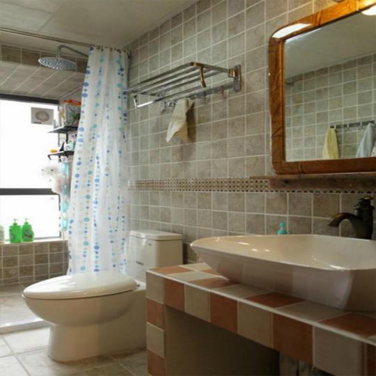 美式田园风格卫生间装修效果图
